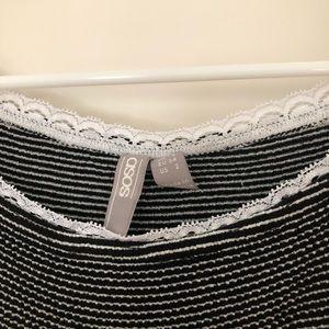 ASOS Tops - Off Shoulder Stripes Lace Crop Top